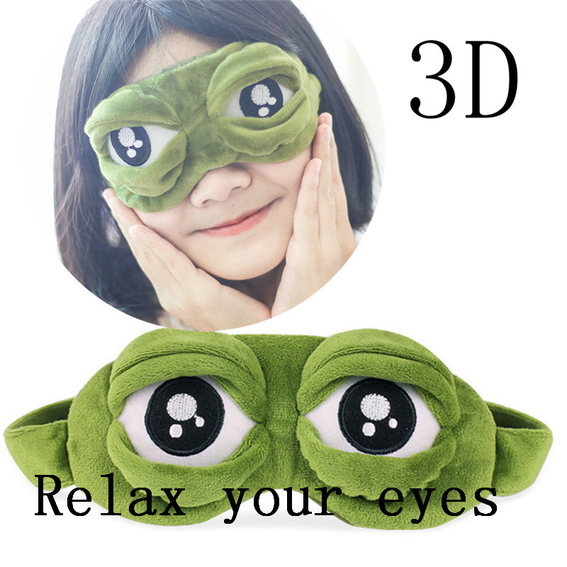 Women Men Hot Deal Eyeshade Cute Eyes Cover The Sad 3D Eye Mask Cover Sleeping Rest Sleep Anime Funny Gift Sleep Eyepatch n#