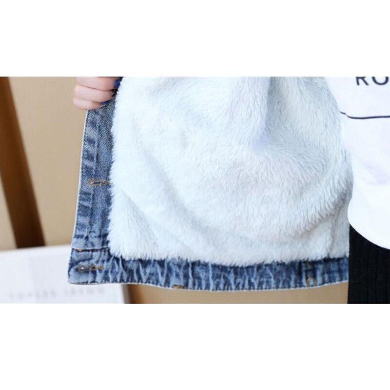 Cappotto Jeans white Grande Formato Harajuku Pelliccia Di Breve Gray Dei Donne Lana Giacca Casual Delle Caldo Inverno Signore D'agnello Collo SxFqOtpw