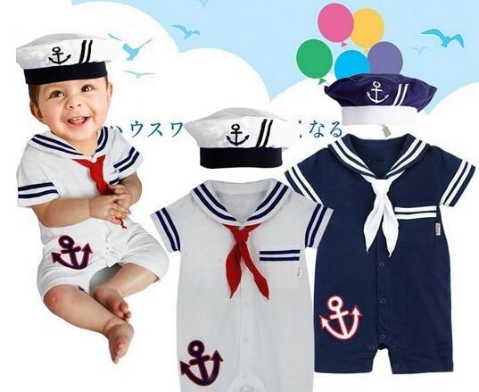 c87a630d6 2015 nuevos bebés del mameluco del verano recién nacido ropa marinero bebe  infantil mamelucos cortos de la manga para el niño estilos navy mono en  Monos de ...