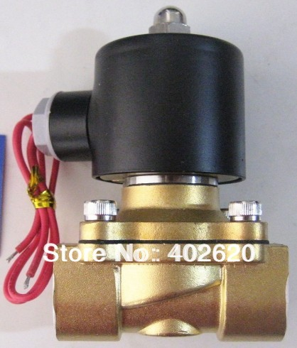 Free Shipping 2pcs a lot 1.5 Electric Solenoid Valve Water Air N/O 220V AC Normally Open Type 2W400-40-NO/NC free shipping 2pcs lot new switch e2e x10my1 z ac two wire normally open m18 non embedded sensor