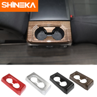 SHINEKA Interior Mouldings for ford f150 2016+ Cup Holder Decoration Stickers Cover for ford f150 accessories