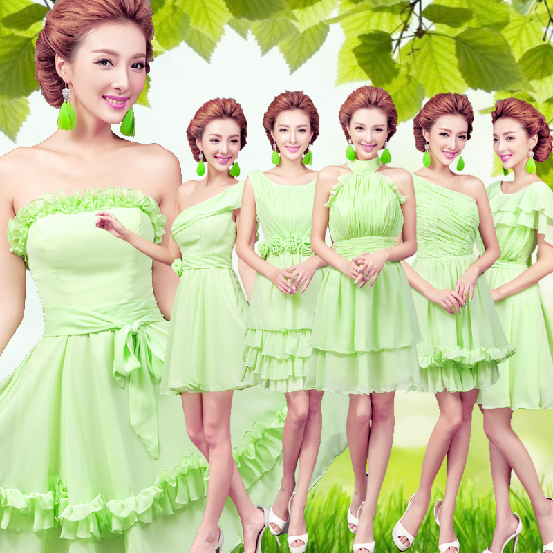 2018 new stock plus size women pregnant   bridesmaid     dresses   wedding party A line flower backless sexy romantic cheap green   dress