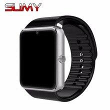 Хорошее Слизняк Смарт-часы GT08 часы Поддержка TF sim-карты носимых Часы Bluetooth для телефона Android Smartwatch PK DZ09 A1 GT08 часы