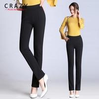 Crazy Plus Size Mall New M 9XL Women Long Elastic OL Pants 2018 Summer Skinny Pants Big Size Black White Office Business Pants