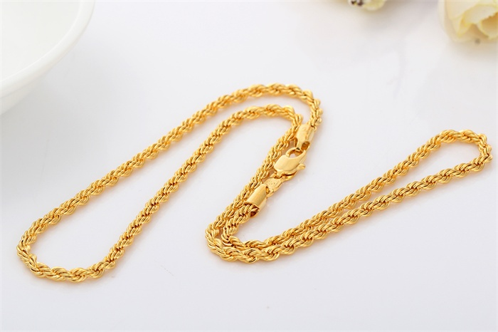 product rope chain twisted free shipping jewelry chains necklace twist stainless goldplated watches steel