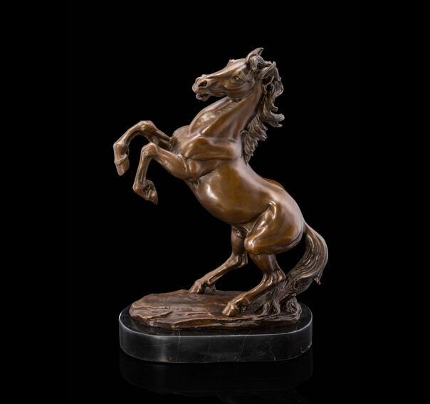 Antiquitäten & Kunst Provided Wunderschöne Alte Schwere Bronze Skulptur Wildes Pferd. Metallobjekte