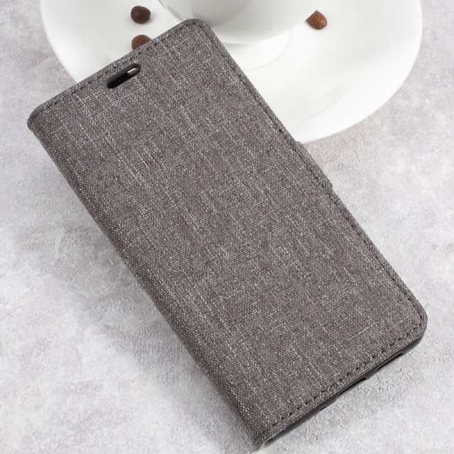f0bac15b3e7143 Phone Cases for Huawei P10Lite Linen Cloth Texture PU Leather Stand Card  Holder Folio Shell Cover