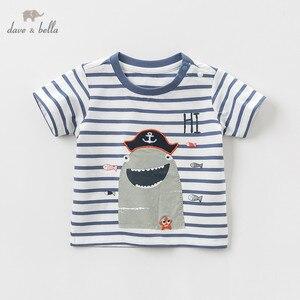 Image 2 - DBJ10359 דייב bella קיץ תינוק בני אופנה חולצה ילדי cartoon פסים חולצות בנות באיכות גבוהה בסוודרים ילדים מקרית tees