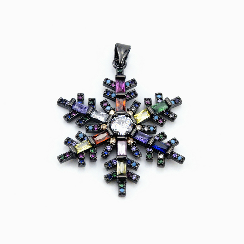5Pieces Fashion Jewelry The Rainbow Series The Snowflakes Shape Pendant 4Colors Can Wholesale in Jewelry Findings Components from Jewelry Accessories
