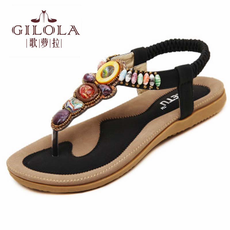 Yeni bohemia düz kadın sandalet flip floplar flats kadın sandalet pembe kayısı bayanlar bahar yaz ayakkabı kadın en # Y0580916Q