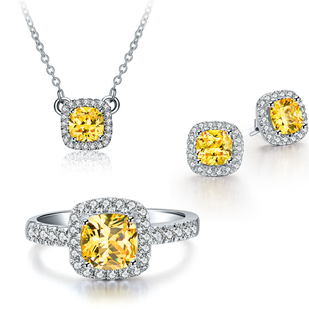2ct golden cushion cut synthetic diamonds pendant necklace statement 2ct golden cushion cut synthetic diamonds pendant necklace statement wedding souvenir beauty makers lady love floating charms in pendants from jewelry mozeypictures Choice Image