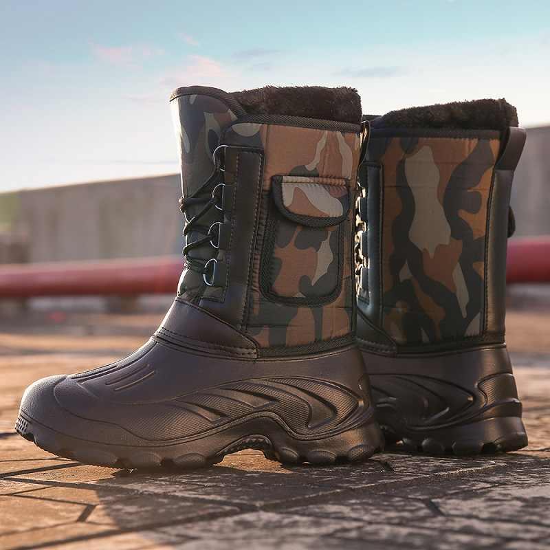 VESONAL/Брендовые повседневные мужские зимние ботинки; мужские зимние новые уличные водонепроницаемые легкие зимние теплые короткие плюшевые кроссовки; мужская обувь