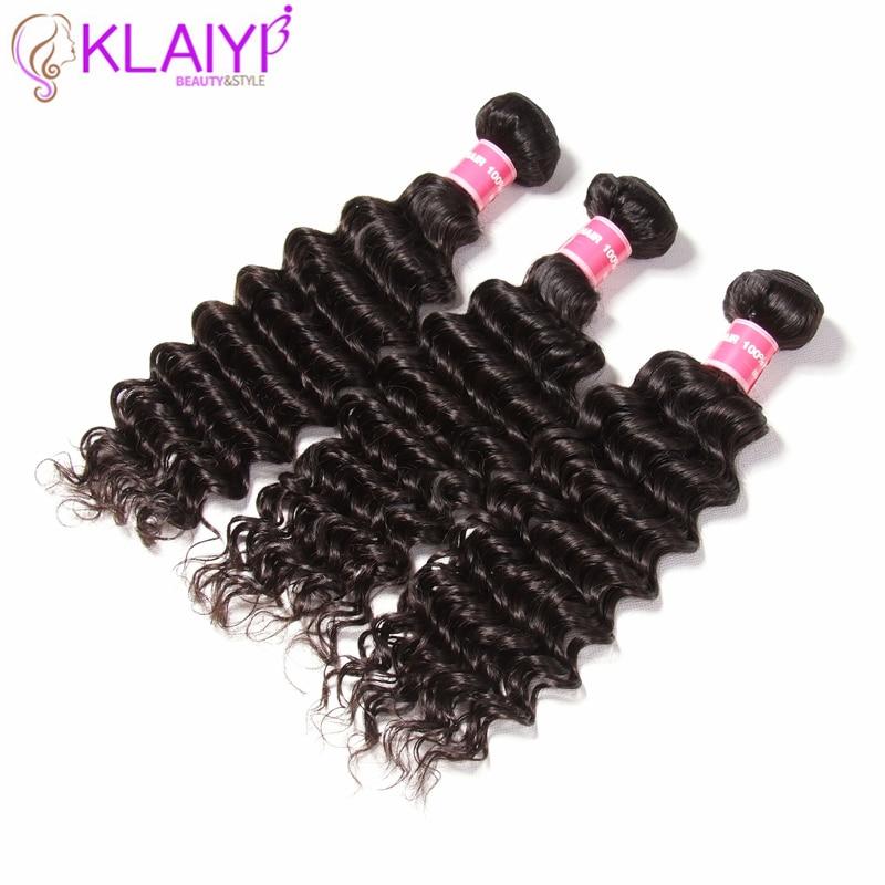 Klaiyi Hair Brazilian Deep Wave Hair 4 Bundles 100 Remy Hair 12 26 Inch Free Shipping