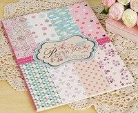 Exclusif diy Emballage Cadeau Papier Livre 16 feuilles/set, rose polka dot modèles Scrapbooking Papier pack Ensemble, origami, papier artisanat