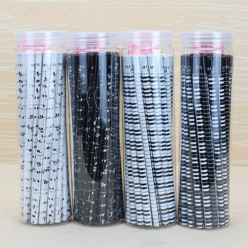 36pcs Musical Note Pencil 2B Standard Round Pencils Piano Notes  Writing Drawing Tool Stationery School Student Gift