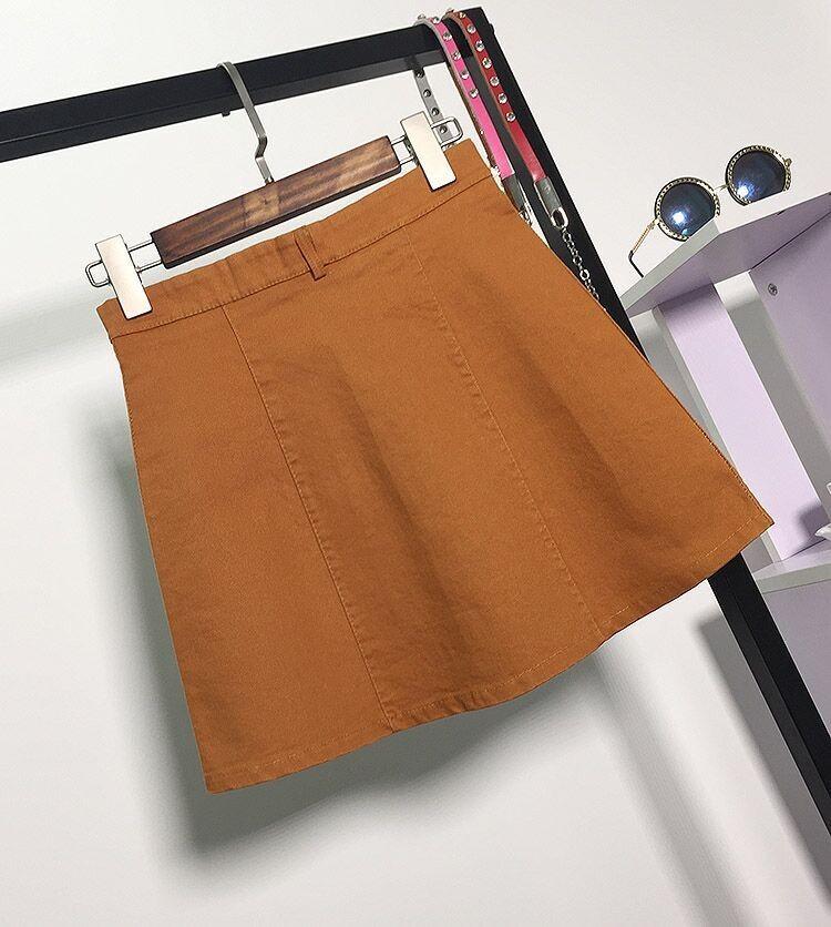 HTB19pVcMFXXXXcjXpXXq6xXFXXX6 - American Apparel button Denim Skirt JKP265