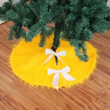 78cm New Arrival Gold Plush Christmas Tree Skirt For XMAS Decor Years Party Supplies Merry Accessories