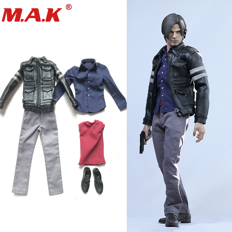 все цены на 1/6 scale Resident Evil 6 Leon Scott Kennedy clothes clothing set w shoes models for 12 inches action figures bodies accessories онлайн