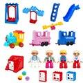 Новый конструктор большого размера «сделай сам», Декор для дома, фигурки, аксессуары, игрушки для детей, совместимый, большой размер, подаро...