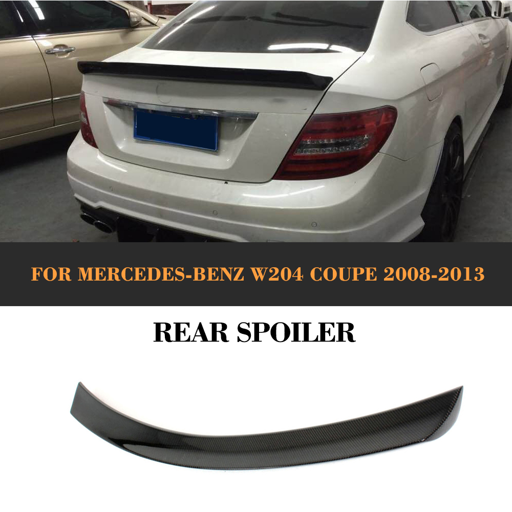 C Class Carbon Fiber Rear Trunk Boot Spoiler Lip Wing for Mercedes Benz W204 C204 2 Door Coupe 2008-2014 C63 AMG C200 C250 C300 w204 c180 c200 c260 c300 carbon fiber car rear trunk lip spoiler wing for mercedes benz w204 c63 4 door 2008 2013 amg style