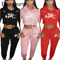 Boayours Casual Ladies 2 Piece Set Women Letters Print Rompers Jumpsuit Womens Tops And Long Bodycon