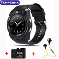 Femperna V8 Smart Watch support Sim TF Card Slot Bluetooth Clock with 0.3M Camera MTK6261D Smart Watch for IOS Android Phone