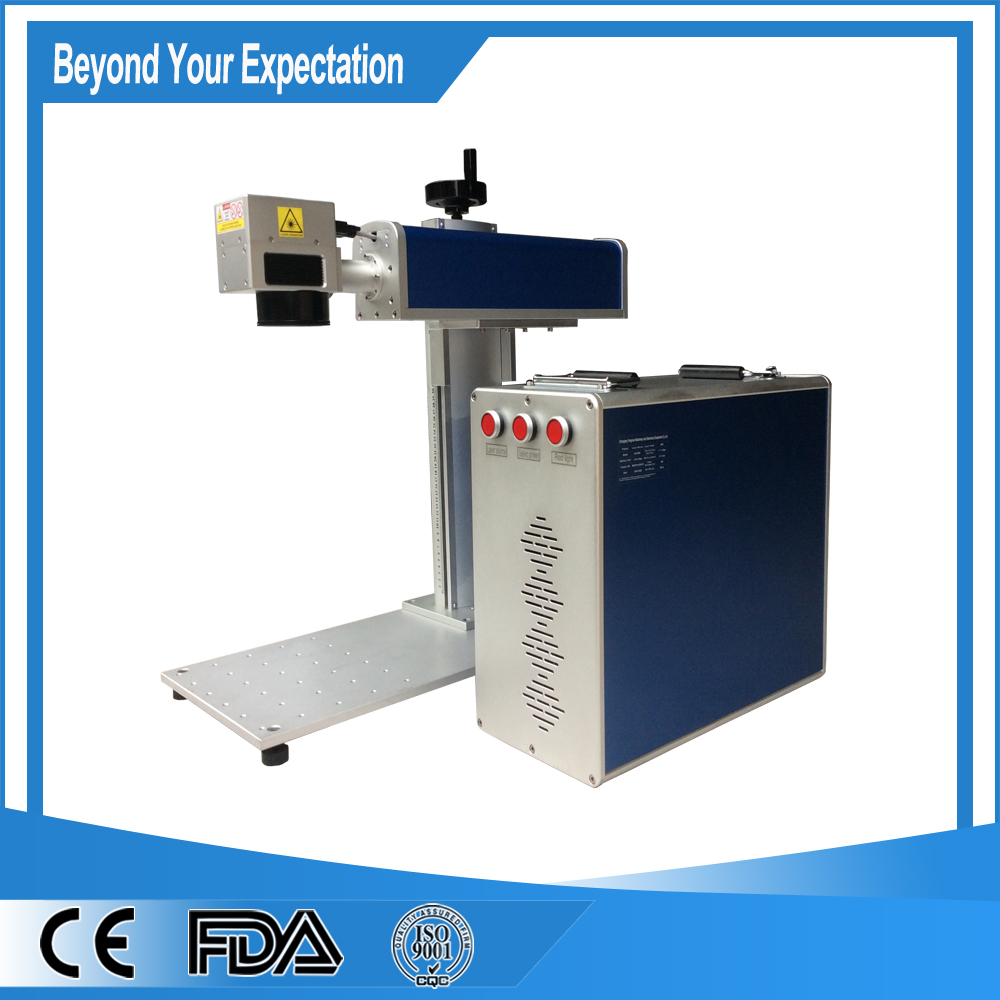 50W Optical Fiber Laser Marking Machine For Metal/Fiber Laser Marking with AMX laser sou ...