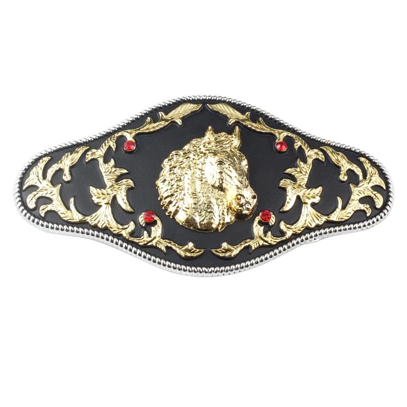 Golden Eagle Belt Buckle Horse Scalp Take The Lead In The Western Style Bulk Belt Accessories For 3.8cm Width