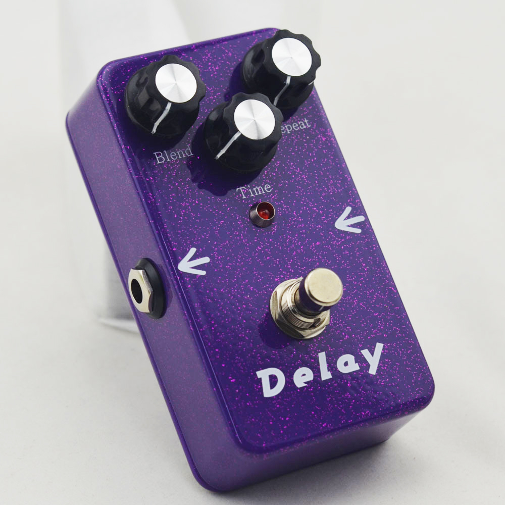 New Delay Guitar Effect pedals / purple Guitar Analog Delay Pedal True Bypass Free Shipping nux ad 3 new arrival guitar effects pedal analog delay effect 300ms max delay time warm echoes sound true bypass free shipping