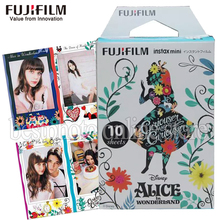 Fujifilm Fuji New alice Wonderland Instax Mini 8 Film 10 Sheets Photo Paper For mini 8 50s 7s 90 25 Share SP-1 Instant Camera