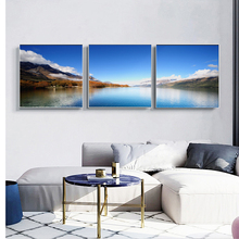 3Pcs Landscape Posters and Prints Wall Art Canvas Painting Calm Lake Mountain Decorative Pictures for Living Room No Frame