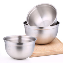 Deepen the 304 stainless steel basin German round bowl with size, non magnetic baking salad dressing basin 20cm