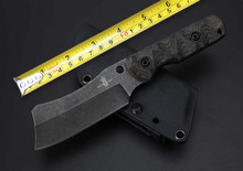 Elaborate Stone Wash Hunting Fixed Knife VG10 Blade Flax Handle Small Survival Knife Handmade Utility Knife Tactical K Sheath cs