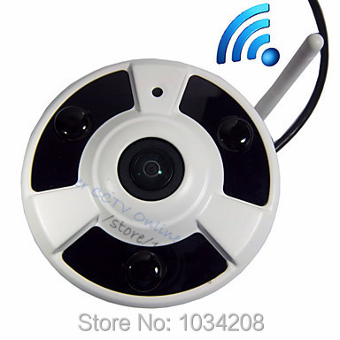1080P 2MP Indoor P2P 180&360Degree Panoramic Fisheye HD Ip Camera Wifi Wireless Night Vision Onvif  Wifi Network Camera Wireless erasmart hd 960p p2p network wireless 360 panoramic fisheye digital zoom camera white