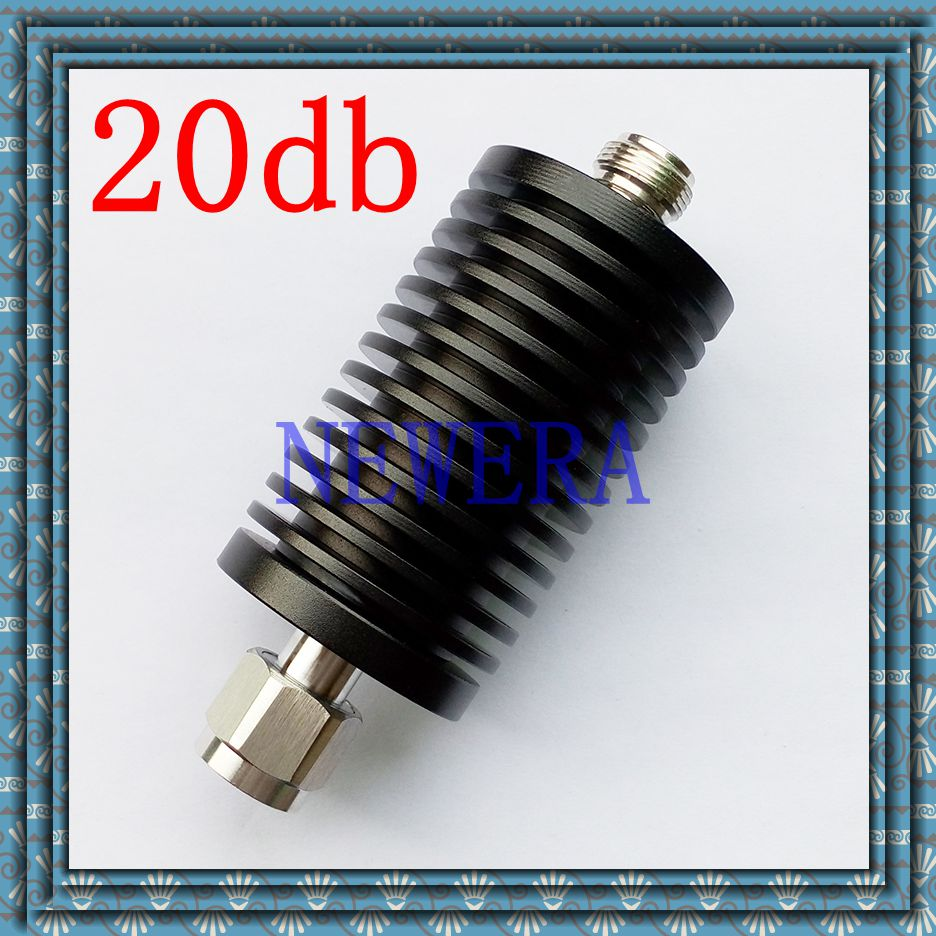 50W N-type male and female RF coaxial fixed attenuator DC-3GHz .20db ,free shopping free shipping 10w rf attenuator coaxial dc 3ghz n type 6db