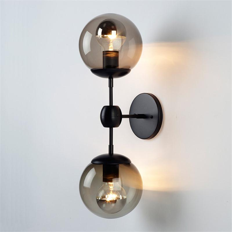 Loft Retro Wall Lamps American Nordic Simple Bedside Wall Lights Industrial Metal Reading Lighting Corridor Sconce Fixtures nordic bedside wall lamp american bedroom iron retro wall lamp industrial wind corridor loft aisle lamps lighting fixture led