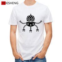 Funny Seat Robot Printed Men T Shirt 100 Cotton Short Sleeve Tops Tees Homme Tshirt Men