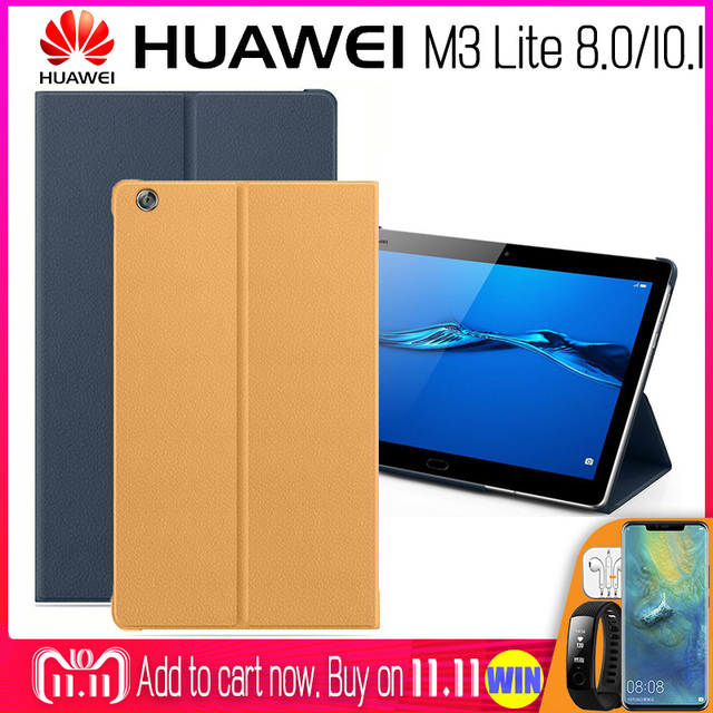 check out 3f64c 38cdc Cheap Online-HUAWEI M3 Lite Case Official Original Smart View HUAWEI ...