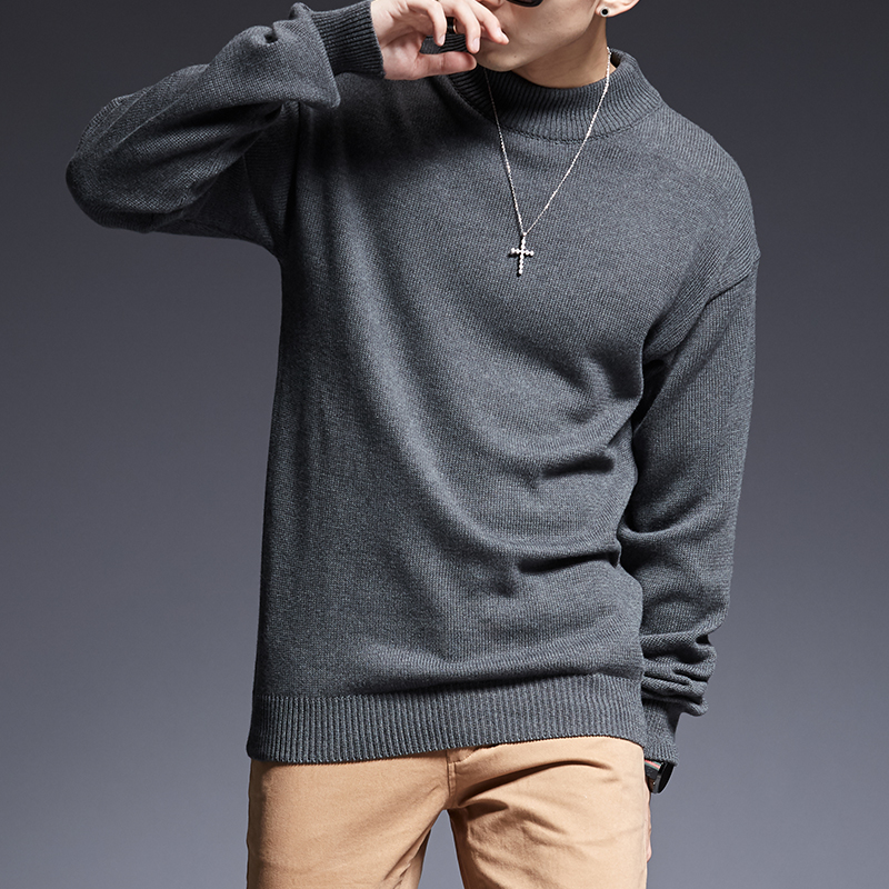 2019 New Fashion Brand Sweaters Men's Pullovers Thick Slim Fit Jumpers Knitwear Warm Winter Korean Style Casual Mens Clothes