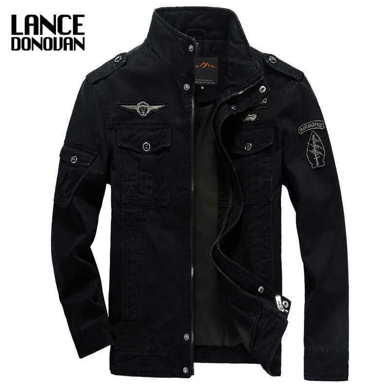 Мужская куртка в стиле милитари, повседневная зимняя куртка карго цвета хаки, брендовая армейская куртка плюс-сайз, размеры с M по 6XL, 3 цвета, 2017