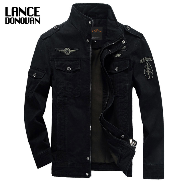 NEW 2019 Mens Green Khaki 3 Colors Military Jacket Winter Cargo Plus size M-XXXL 5XL 6XL Casual man Jackets Army clothes brand 1