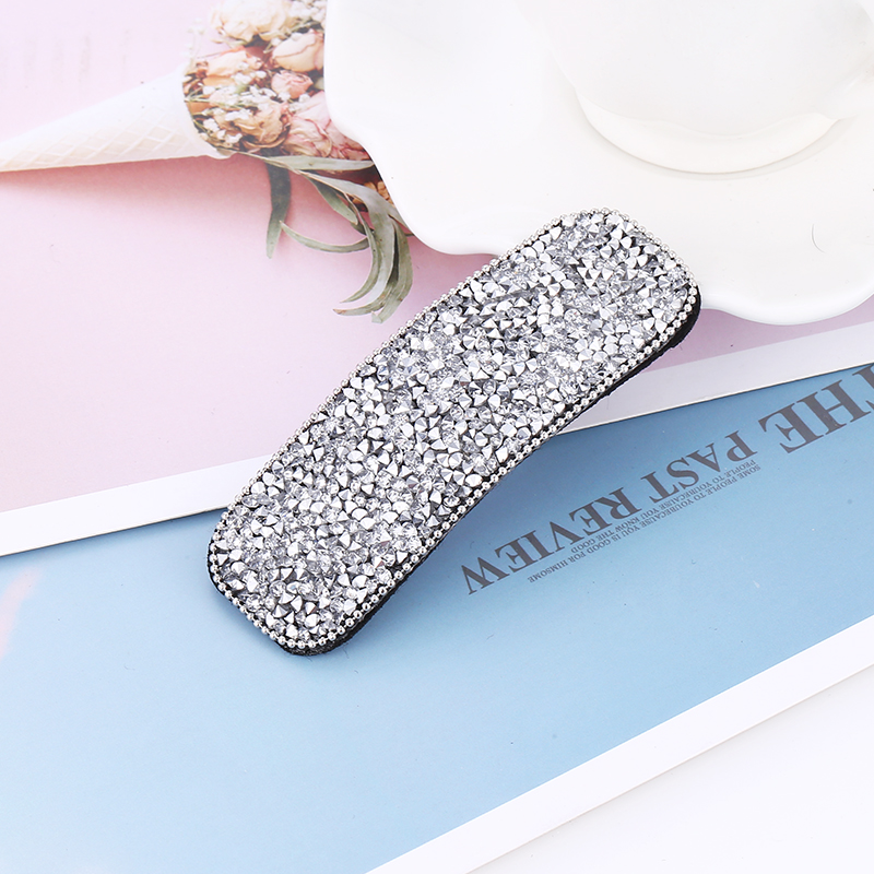 Bohopan New Arrival Korean Version Square Hair Clips Women Fashion Rhinestone Hair Pins High Quality Headwear For Birthday Gifts in Women 39 s Hair Accessories from Apparel Accessories