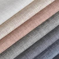 Linen Pattern Pu Imitation Leatherette Leather Cover Material For Furniture Eco Leather Upholstery Furnishing Fabrics Tissus