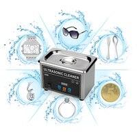 Profesyonel 0.8L 35 W Mini Ultrasonik Temizleyici Makinesi Dijital Zamanlayıcı Dijital Zamanlayıcı CJ-008 Temizleme Takı Gözlük Ile Izle