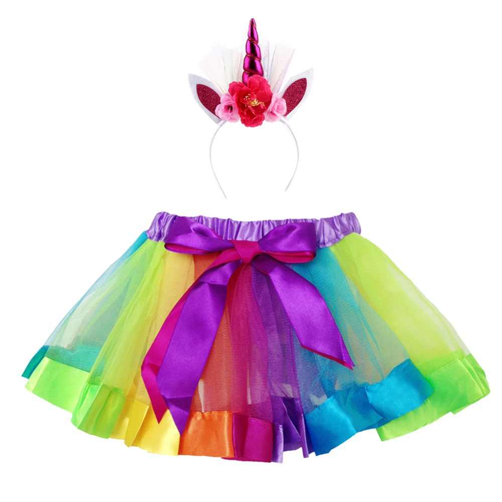 ad7bc8aa41bf Detail Feedback Questions about 2PCS Set Kids Baby Girl Unicorn Tutu ...