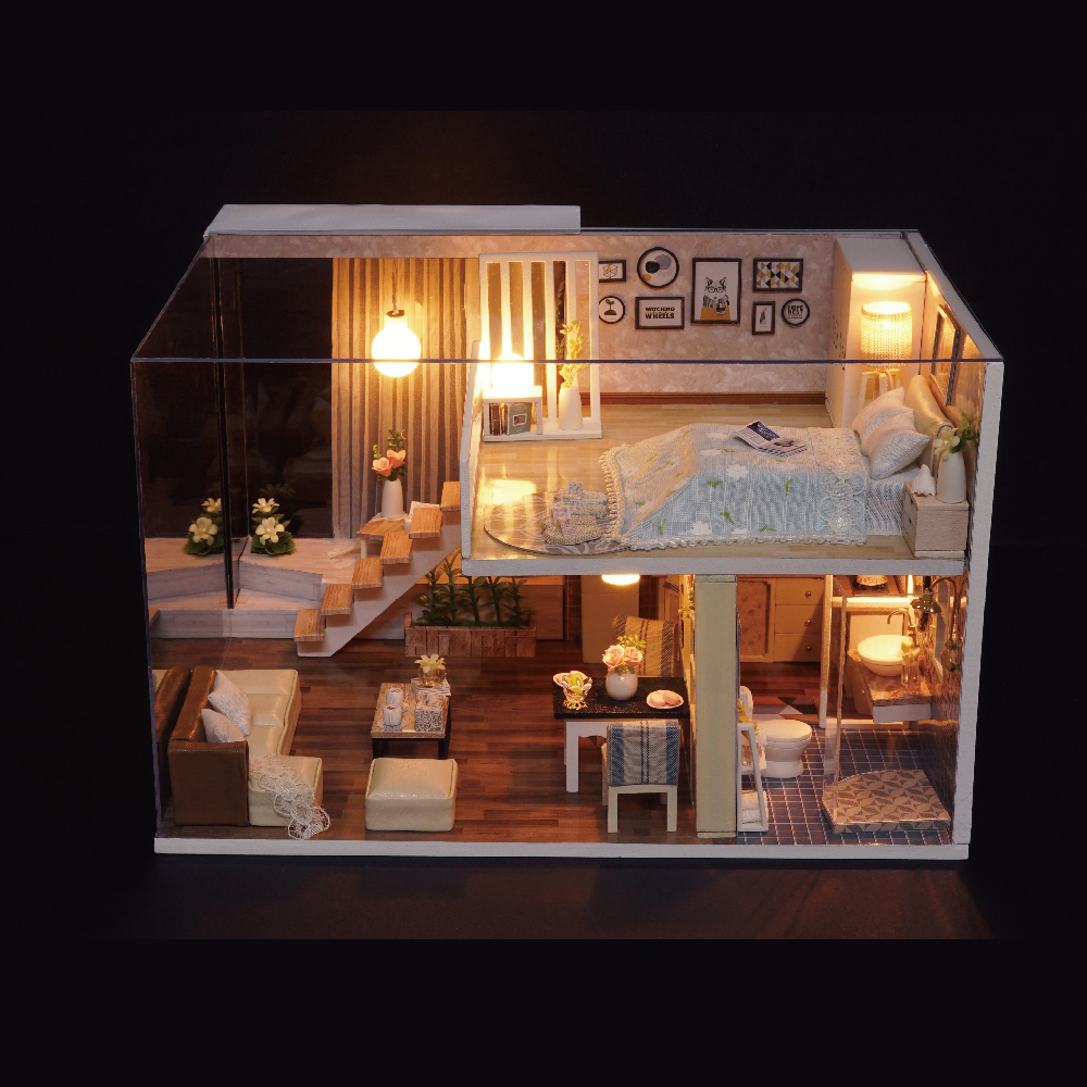 List Of Apartments That Accept Evictions: Miniature Dollhouse DIY Wooden Doll House Furniture