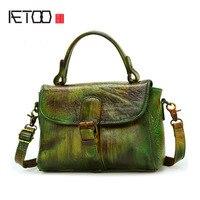 AETOO New Retro Bag Female Leather Bag Shoulder Bag Messenger Bag Female Japan And South Korea