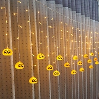 SXZM 3 5M Or 5M Led Curtain Light AC220V Halloween Decoration Pumpkin Skull Spider Eye Fairy