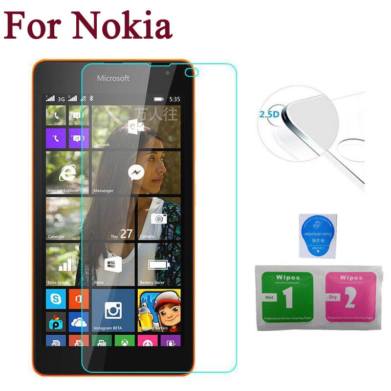GUOSHU Premium Tempered Glass Screen Film 100 PCS 9H 2.5D Tempered Glass Film for Nokia 3.1 Anti-Scratch Screen Protector