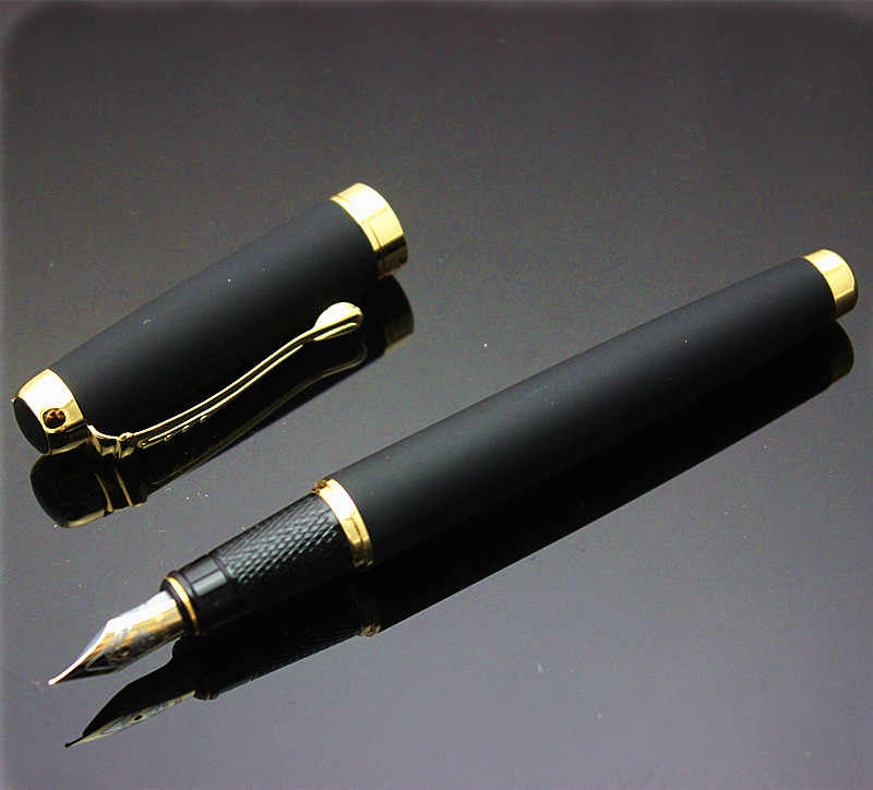 eternal life 9121 Classic Black Fountain Pen with 0.5 mm Iridium Nib The Best Business Gift Pen Metal Ink Pens Free Shipping